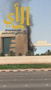 اندلاع حريق خارج مبنى مستشفى الولادة والاطفال بالدمام