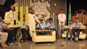 طلاب مركز الرعاية المتميزة النهارية يطلعون على سير العمل الإعلامي بتليفزيون الطائف