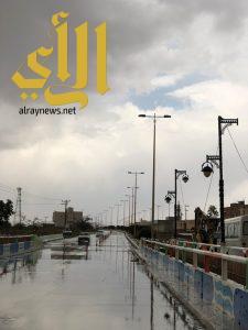 الامطار تزين اجواء محافظة الحرجة