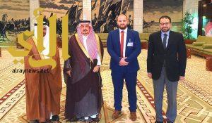 """أمير """"الرياض"""" يستقبل وفد المنظمة العربية للهلال الأحمر والصليب الأحمر"""