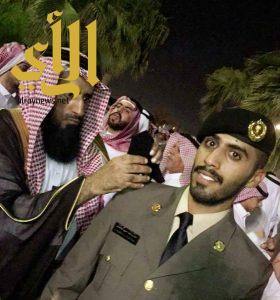 الملازم خالد آل ناجع يحتفل بتخرجه من الكلية الأمنية