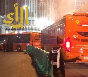 بالتنسيق مع مرور العاصمة المقدسة النقل الترددي ينظم وصول المصلين للمسجد الحرام