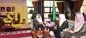 أمير تبوك يستقبل الشيخ صالح المغامسي