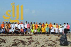 بالصور… أكثر من 80 شابا يشاركون في تنظيف شواطئ الطرفة بقوز الجعافرة