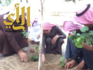 مدرسة يحيى بن وثاب تفعّل اسبوع الشجرة