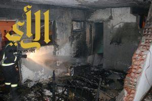 مدني مكة يتعامل مع حريق لانفجار سحابة غاز في منزل بحي العوالي