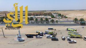 مستشفى وادي الدواسر ينفذ فرضية وهمية لانقلاب وأشتعال حافلة