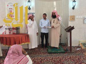بن فردان يكرم طلاب تحفيظ القرآن بحي الشفاء بالمضة