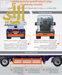 """""""مرور جازان"""" ينفذ حملات توعوية تستهدف ملاك الشاحنات وإلزامهم بتركيب حواجز الحماية"""