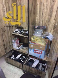 بلاغ مواطن يقود شرطة الرياض ومكتب العمل  للقبض على 7 وافدين مخالفين