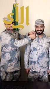 ترقية خالد آل شلعان لرتبة ملازم أول بحري