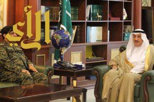 سمو أمير جازان يستقبل قائد الإفواج المكلف بالمنطقة