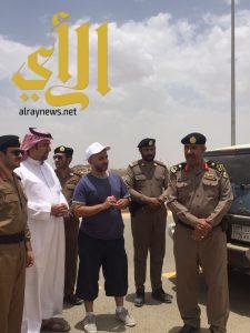 مدير شرطة عسير يطلع على التجهيزات لرالي عسير بمحافظة طريب
