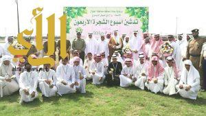 بلدية الطوال تدشن أسبوع الشجرة برعاية محافظ الطوال
