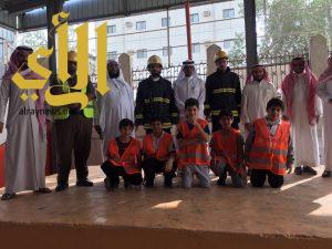 حريق افتراضي يخلي إبتدائية نعيم بن مسعود بمكة في وقت قياسي