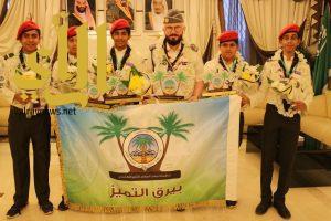 استقبال حافل بمطار وادي الدواسر لا بطال منافسات رسل السلام على مستوى المملكة