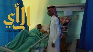 طلاب ثانوية النجامية في زيارة لمصابي الحوادث المرورية بمستشفى صامطة العام
