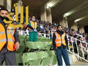 فريق التطوع بالهلال الأحمر بالقصيم يتواجد في مباراة الرائد والتعاون