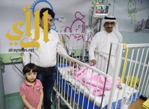 العناية المركزة للأطفال بمستشفى الملك سلمان تستقبل اولى حالاتها