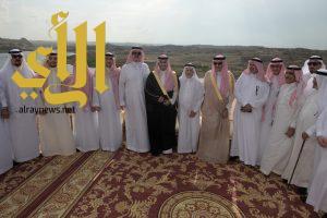 رئيس هيئة السياحة و نائب أمير عسير يزوران مزرعة بن نابت بخميس مشيط
