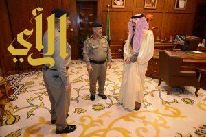 أمير عسير يودع العميد أبو ذيبه