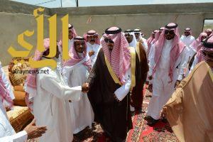 أمير عسير ينقل تعازي القيادة في شهداء محافظة المجاردة
