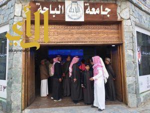 العروض المرئية بجناح جامعة الباحة بمهرجان الجنادرية 31 تجذب الزوار