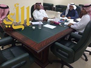 اجتماع فريق المسار الصحيح بالكليات الصحية بجامعة الباحة