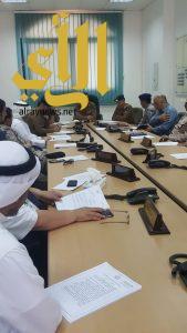 """اللجنة الفورية للدفاع المدني بعسير تعقد إجتماع مناقشة الاستعداد للحالة المدارية """"مكونو"""""""