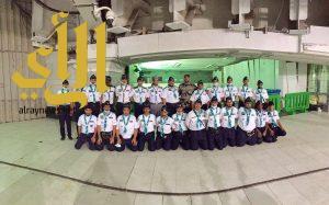 جامعة الباحة تُشارك بـ 33 طالباً من الجوالة لخدمة المعتمرين وزوار بيت الله الحرام