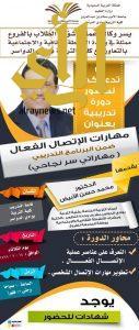 """دورة في """" مهارات الاتصال الفعال"""" بجامعة الأمير سطام بن عبدالعزيز"""