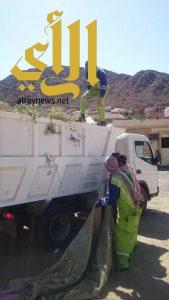 بلدية مربة تزيل 500 طن مخلفات خلال العطلة الشتوية