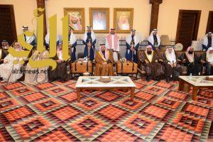 فيصل بن خالد يستقبل أهالي عسير المعزين في وفاة أخيه الأمير بندر بن خالد