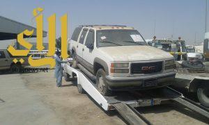 بلدية الجبيل ترفع 45 سيارة تالفة وإغلاق 25 ورشة ( بصناعية العريفي)