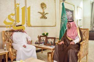 أمير منطقة الحدود الشمالية يستقبل وزير الدولة لشؤون الخليج العربي