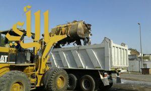 بلدية الجبيل ترفع 4000 م3 أنقاض ومخلفات بالمنطقة الصناعية