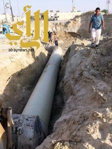 بلدية النعيرية: إنجاز 95 بالمئة من مشروع درء أخطار السيول وتصريف مياه الأمطار