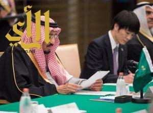 خادم الحرمين يعقد جلسة مباحثات رسمية مع دولة رئيس وزراء اليابان