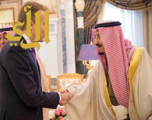 خادم الحرمين يستقبل وزير خارجية النرويج