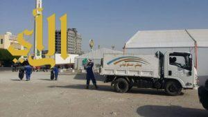 بلدية غرب الدمام تشارك بتنظيف أكثر من ٢١ مخيم لإفطار الصائمين