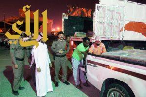 بلدية النعيرية تصادر وتتلف 600 كجم دجاج من سيارة مخالفة