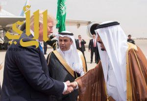 خادم الحرمين الشريفين يستقبل رئيس الولايات المتحدة الأمريكية في قصر المربع التاريخي