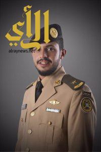 الملازم عامر الزهراني يحتفل بتخرجه من الكلية الحربية