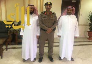 مدير شرطة منطقة عسير يستقبل الرقيب عوض القحطاني