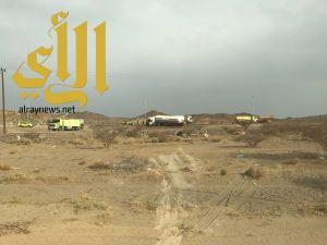 مدني طريب يسيطر على حادث انقلاب ناقلة غاز .. وإصابة سائقها