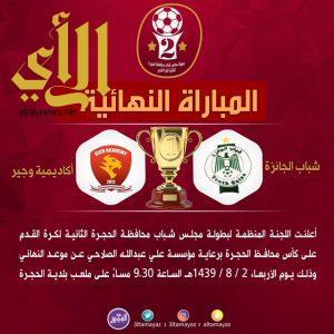 نتائج دور الاربعة وتحديد نهائي بطولة مجلس شباب محافظة الحجرة