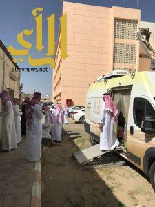 أحوال الباحة تقدم خدماتها لمعلمي وطلاب ثانوية السروات
