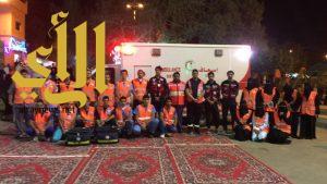 الهلال الأحمر بالباحة يشارك بعدد من الفرق الاسعافية بحفل المعايدة