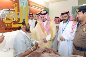 أمير عسير يزور المصابين الرياعي والشهري بمستشفى عسير المركزي