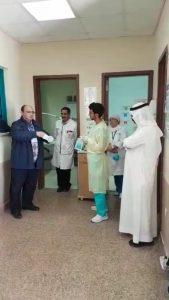 مكافحة العدوى بصحة الباحه يزور مستشفى المندق